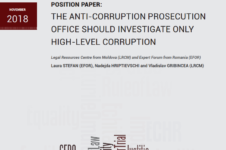 Position paper: The Anti-Corruption Prosecution office should investigate only high-level corruption