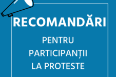 Recomandări pentru participanții la proteste