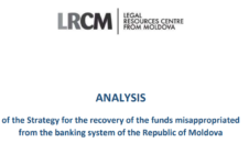 Analysis of the Strategy for the recovery of the funds misappropriated from the banking system of the Republic of Moldova