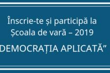 scoala de vara 2019 democratie aplicata