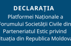 Declaration of the National Platform of the Civil Society Forum of the Eastern Partnership Regarding the situation in the Republic of Moldova