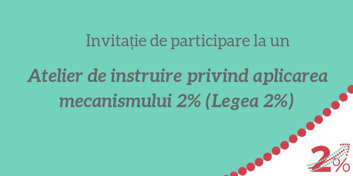Atelier de instruire privind aplicarea mecanismului 2% (legea 2%)