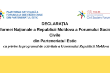 DeclaraȚia platformei naționale a republicii moldova a forumului societății civile din parteneriatul estic cu privire la programul de activitate a guvernului republicii moldova