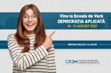 CRJM a dat start înscrierilor la Școala de Vară 2021 – Democrația Aplicată. Înregistrează-te acum!